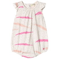 The Bonnie Mob Sleeveless Romper Pink Scribble Waves Print PINK SCRIBBLE WAVES PRINT