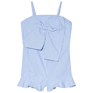 Image of Bardot Junior Jen Bow Romper Blue and White 10 years (2959875919)