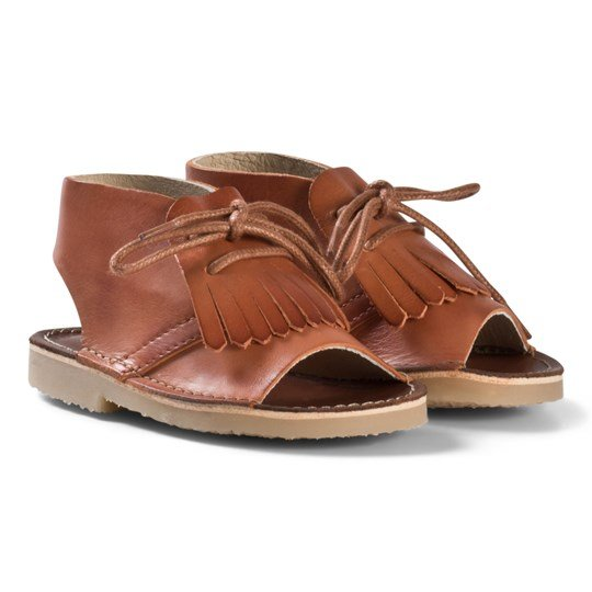 Young Soles Agnes Kilted Boot Sandal Marmalade MARMALADE LEATHER