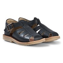Young Soles Navy Frankie Fisherman Sandals NAVY LEATHER
