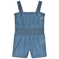 Guess Blue Chambray Playsuit with Bow Detail LGTB