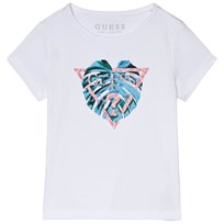 Guess White Leaf Print Tee TWHT