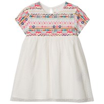 Billieblush Ivory Dotted Mesh Dress with Bead and Embroidered Detail 121