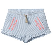 Billieblush Blue Candy Stripe Embroidered Shorts N48