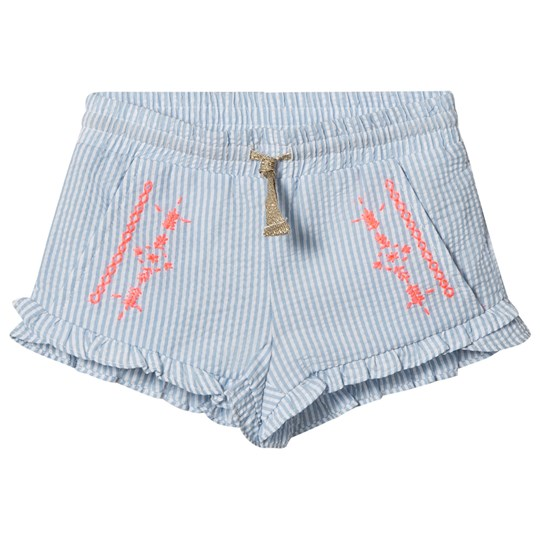 Billieblush Candy Stripe Embroidered Shorts Blå N48