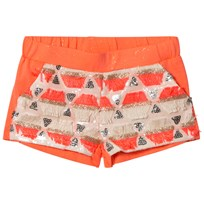 Billieblush Coral and Gold Sequin Shorts Z40