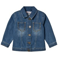 Billieblush Blue Denim Emrbroidered Headress Jacket Z17
