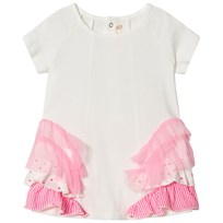 Billieblush Ivory and Pink Multi Frill Dress 121