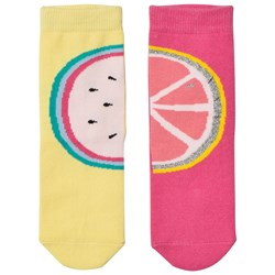 Billieblush Pack of Fruit Socks Pink and Yellow