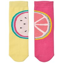 Billieblush Pink and Yellow Fruit Pack of Socks Z40