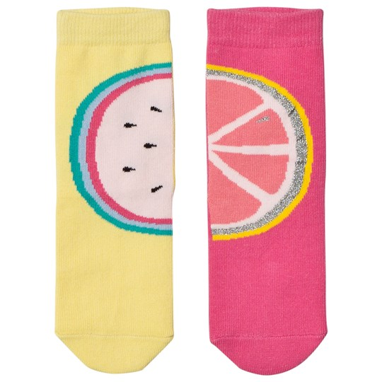 Billieblush Pack of Fruit Socks Pink and Yellow Z40