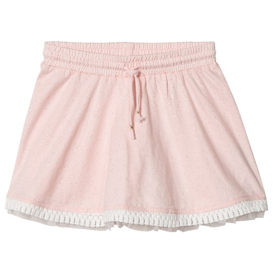 Billieblush Pink Jersey Skirt with Tulle Underlay 45W