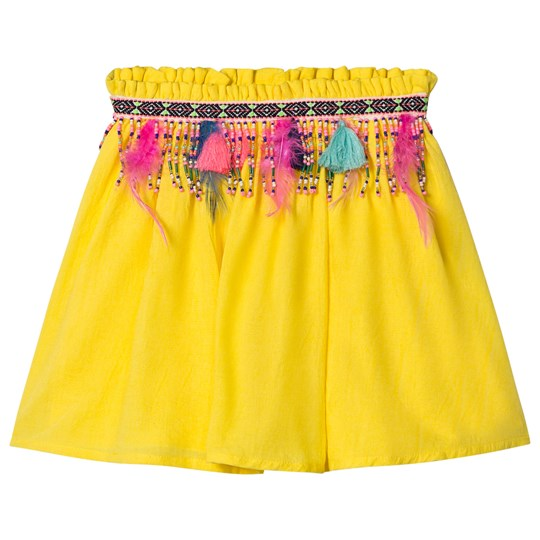 Billieblush Yellow Beaded and Embroidered Skirt 548