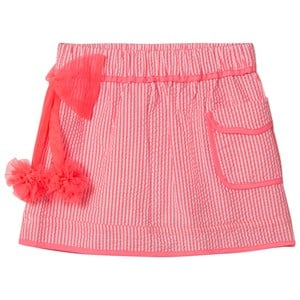 Image of Billieblush Pink Stripe Skirt with Tulle Bow 2 years (2959877197)