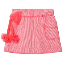 Billieblush Pink Stripe Skirt with Tulle Bow S21
