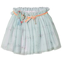 Billieblush Pale Green Tulle Sparkle Tutu Dress with Badge Gift Set Z40