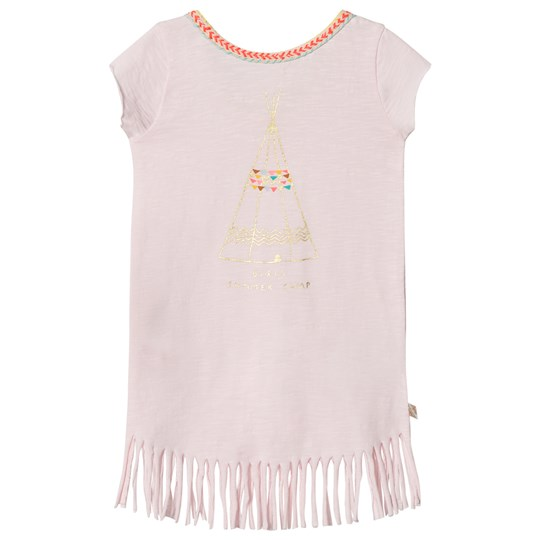 Billieblush Pale Pink Tipi Tassle Tee Dress 44L