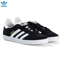 adidas Originals Black Gazelle Junior Trainers CORE BLACK/FTWR WHITE/GOLD MET.