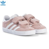 adidas Originals Pale Pink Gazelle Infants Velcro Trainers ICEY PINK F17/FTWR WHITE/FTWR WHITE