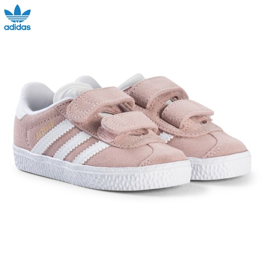 promo code 24514 fa73d adidas Originals Pale Pink Gazelle Infants Velcro Trainers ICEY PINK  F17 FTWR WHITE FTWR