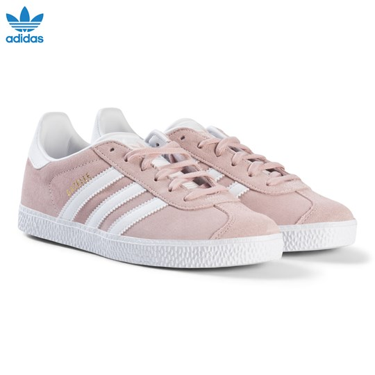 finest selection c3428 1f257 adidas Originals Pale Pink Gazelle Junior Trainers ICEY PINK F17