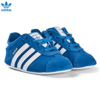 adidas Originals Blue Gazelle Crib Trainers BLUEBIRD/FTWR WHITE/FTWR WHITE
