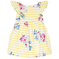 Tom Joule Yellow Stripe and Floral Print Dress MARGATE FLORAL STRIPE