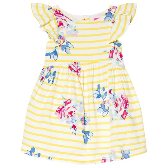 Tom Joule Emeline Woven Dress Yellow and White MARGATE FLORAL STRIPE
