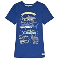 Tom Joule Blue Shark Glow In The Dark Jersey Tee BLUE SHARK