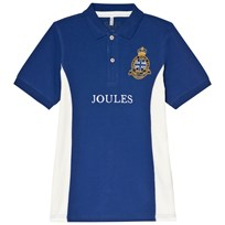 Tom Joule Blue Pique Branded Polo Top Deepblue