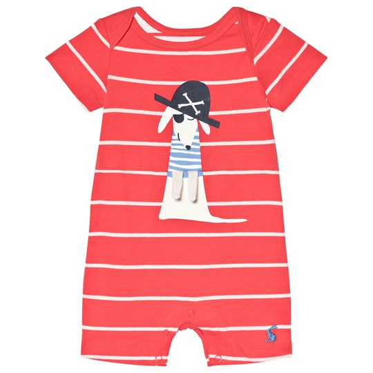 Tom Joule Patch Applique Romper Red MELON RED STRIPE