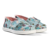 Toms Blue Dolphin Print Espadrilles SEAGLASS DOLPHIN