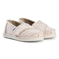 Toms Pink Stripe Woven Espadrilles BLOSSOM WOVEN STRIPE