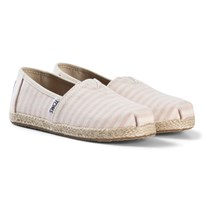 Toms Pink Stripe Woven Espadrilles with Rope Sole BLOSSOM WOVEN STRIPE