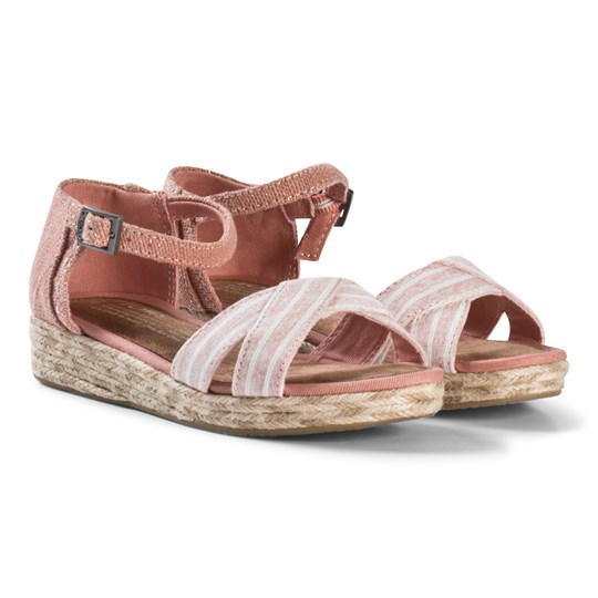 Toms Bloom Chambray Harper Wedges BLOOM CHAMBRAY STRIPE