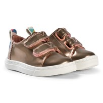 Toms Rose Gold Metallic Velcro Trainers Rose Gold