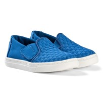 Toms Imperial Blue Basketweave Luca Tiny TOMS Slip-Ons IMPERIAL BASKET WEAVE