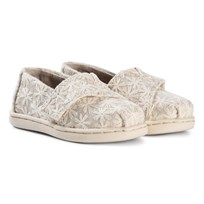 Toms Natural Daisy Metallic Tiny TOMS Classics NATURAL DAISY METALLIC