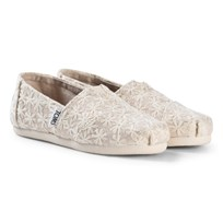 Toms Natural Daisy Metallic Youth Classics NATURAL DAISY METALLIC