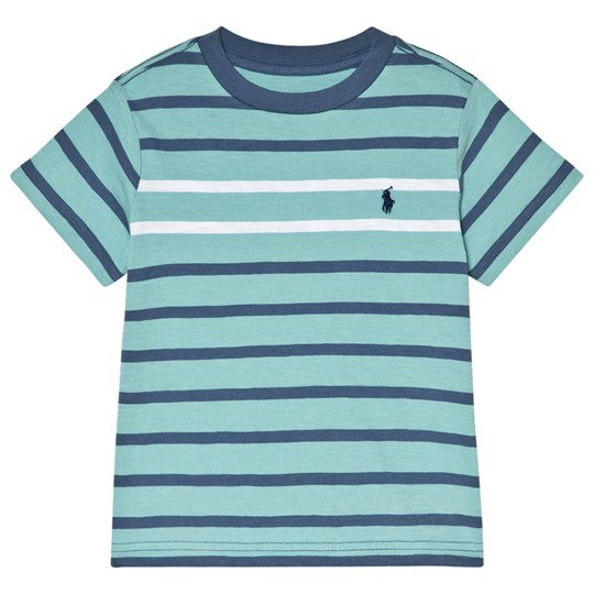 Ralph Lauren Green and Navy Multi Stripe Tee Green
