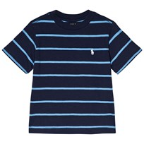 Ralph Lauren Navy Stripe Short Sleeve CN Tops Tee Newport Navy Multi