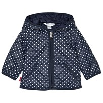 Ralph Lauren Navy Spot Quilted Jacket Navy/White