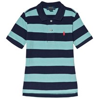 Ralph Lauren Green Multi Stripe Short Sleeve Polo with PP Deep Seafoam Multi