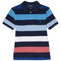 Ralph Lauren Navy Multi Stripe Short Sleeve Polo with PP Newport Navy Multi