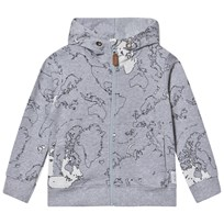 eBBe Kids Rebus sweat jkt Maps allover grey Maps allover grey