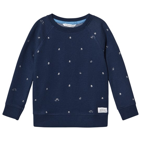 ebbe Kids Radford Blue Sweater Boats Boats on blue