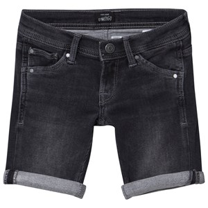 Image of Pepe Jeans Black Cashed Washed Slim Fit Soft Denim Shorts 10 years (2959875897)