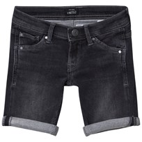 Pepe Jeans Black Cashed Washed Slim Fit Soft Denim Shorts V96