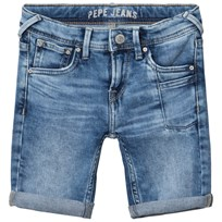 Pepe Jeans Blue Pilot Slim Fit Washed Stretch Denim Shorts 000
