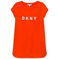 DKNY Orange Branded Printed Dress 412